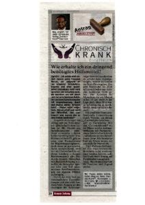 Zeitungsartikel v. 12.12.2015